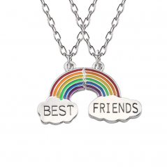 Set Lantisoare Medalioane Coliere Curcubeu Best Friend Best Friends Bff M1 zumrainbow001 Best Friends