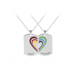 Set Lantisoare Medalioane Coliere Curcubeu Best Friend Best Friends Bff Dog Tag zumrainbow002 Best Friends