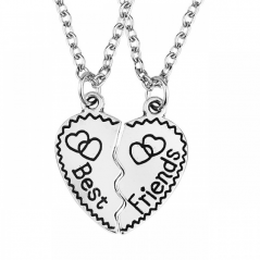 Set Lantisoare Medalioane Coliere Inima Best Friend Best Friends Bff M2 2 zumbff0001 Best Friends