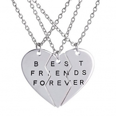 Set Pandantiv Medalion Lantisor BFF Best Friend Friends Forever bff2005 Best Friends