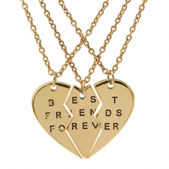 Set Pandantiv Medalion Lantisor BFF Best Friend Friends Forever M2-1 bff2006 Best Friends