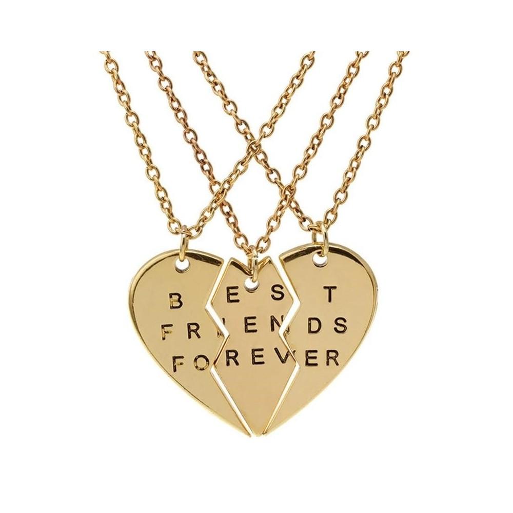 Set Pandantiv Medalion Lantisor BFF Best Friend Friends Forever M2-1 bff2006 Best Friends