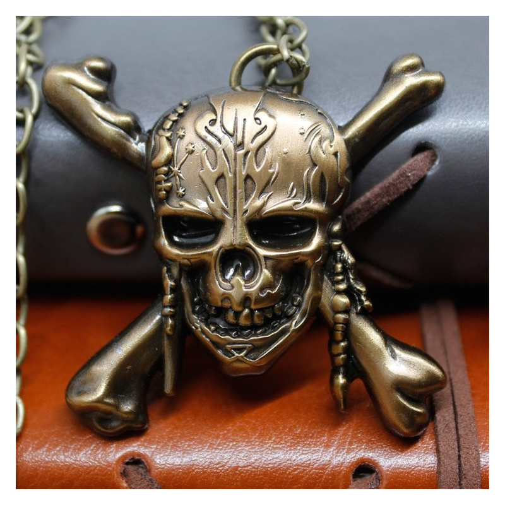 Pandantiv Medalion Lantisor Jack Sparrow Pirații din Caraibe Ambalaj zum462
