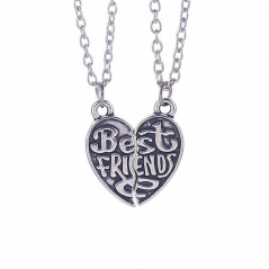 Set 2 Lantisoare Cu Pandantive - Best Friends Inima 20215 20215 Best Friends Medalioane BFF