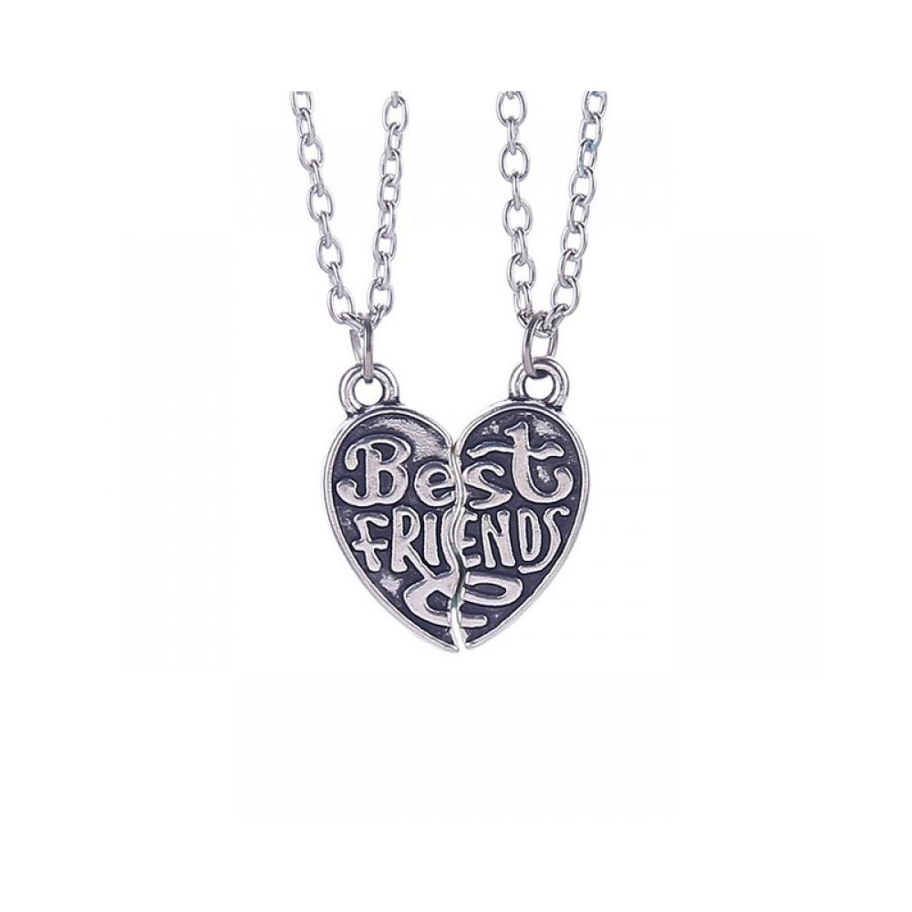 Set Medalioane Lantisoare Best Friend Friends Inima (2 buc) 20215 Best Friends