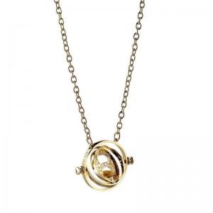 Pandantiv Medalion Lantisor Colier Harry Potter Time Turner Clepsidra - Originala EWN0097 Medalioane