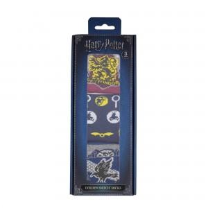 Set 3 Perechi Sosete Ciorapi Harry Potter Golden Snitch CR1607