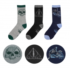 Set 3 Perechi Sosete Harry Potter Deathly Hallows CR1605 Harry Potter Sosete