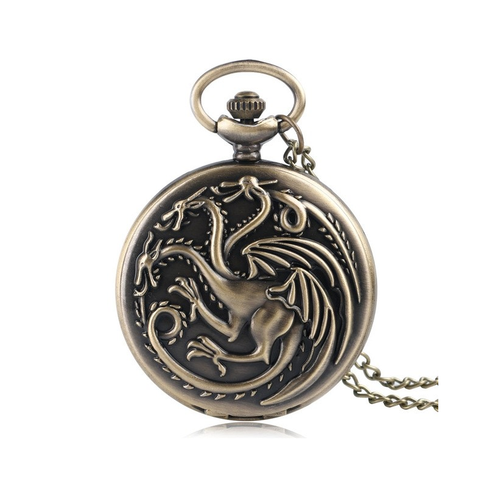 Lantisor Cu Pandantiv Ceas Game Of Thrones Daenerys Targaryen Dragons 4.5cm zum509 Game of Thrones Ceasuri