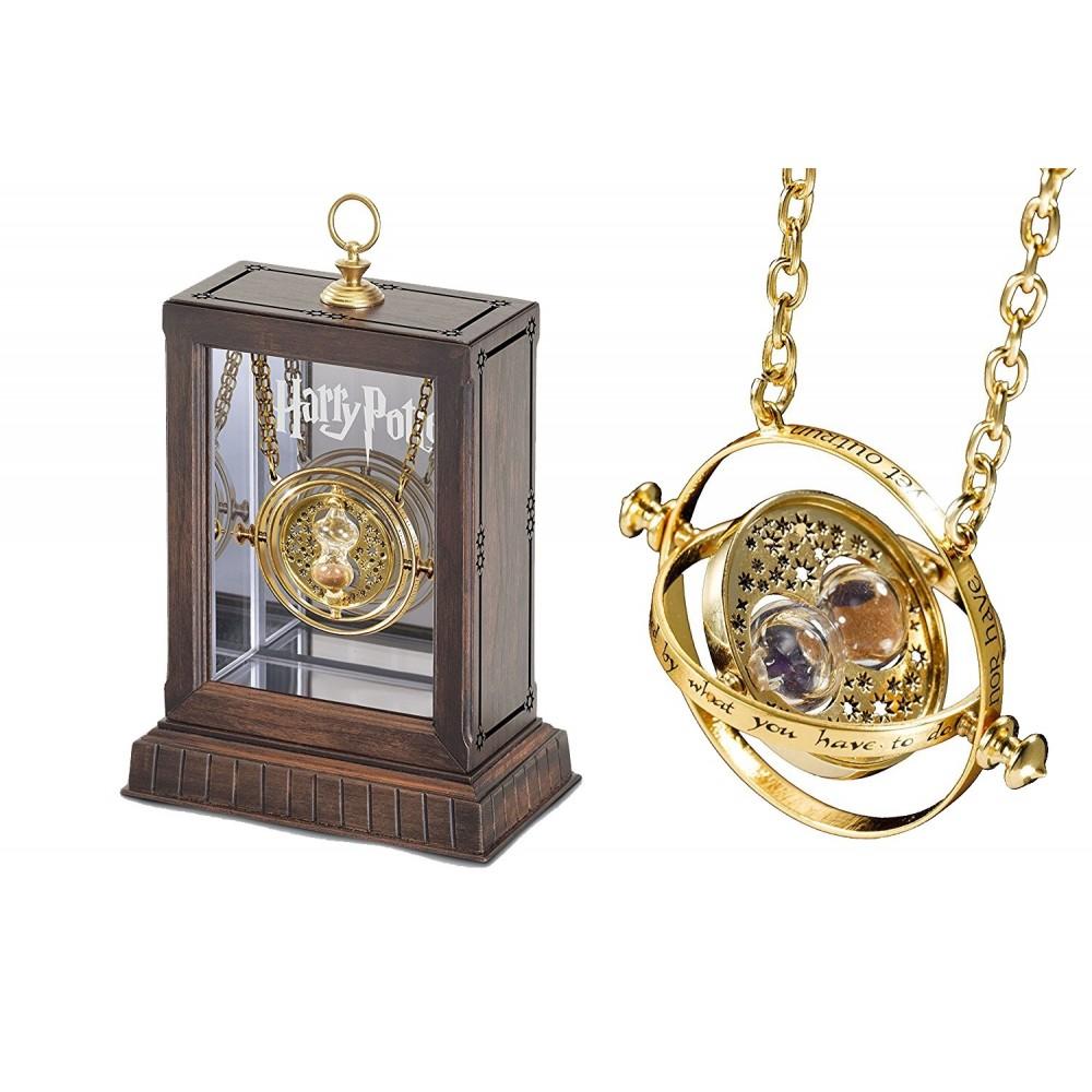 Set Medalion Harry Potter Clepsidra Time Turner Hermione + Cutie de lemn NN7017 Harry potter Medalioane Harry Potter