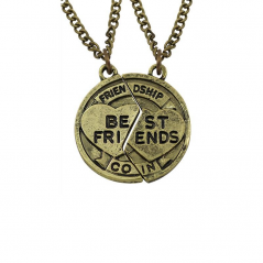 Pandantiv Medalion Colier Lantisor Best Friend Friends zum93 Best Friends Medalioane BFF