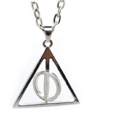 Pandantiv Medalion Lantisor Harry potter Triangle triunghi rotativ 20  Coliere