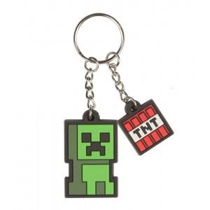 Breloc Minecraft - Creeper Sprite , 4 cm,Original Jinx JNX72713 Brelocuri