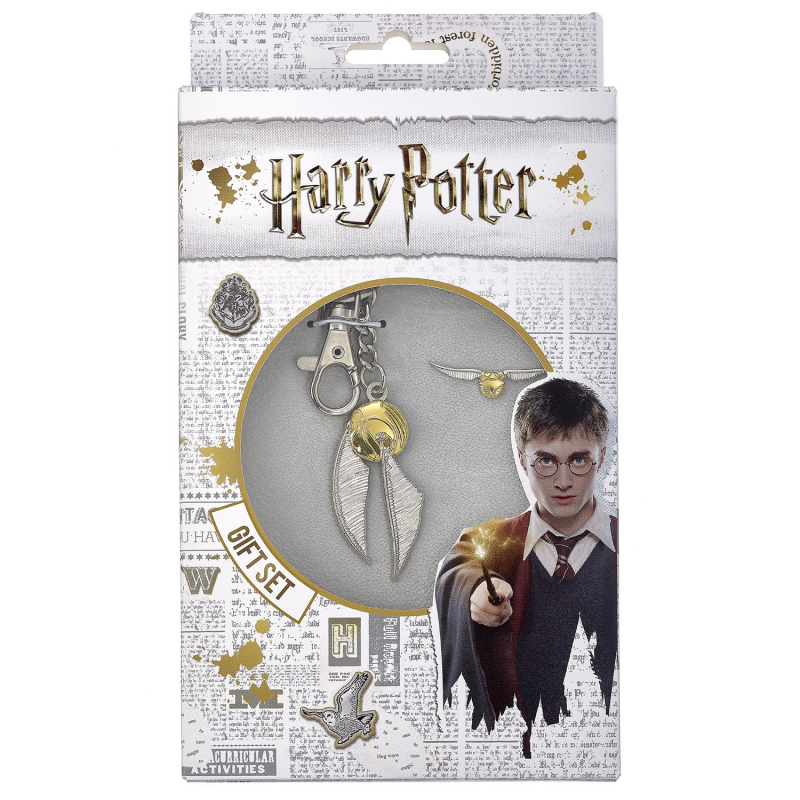 Set Breloc Si Insigna Harry Potter - Golden Snitch