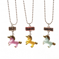 Set 3 Lantisoare Cu Pandantive Best Friends BFF Unicorni bff536 Best Friends Medalioane BFF