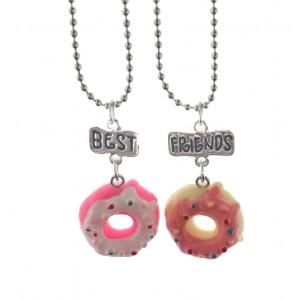 Set 2 Lantisoare Cu Pandantive Best Friends BFF Donuts bff532 Best Friends Medalioane BFF