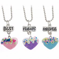 Set 3 Lantisoare Medalioane BFF BEST Friend Friends Inima bff541 Best Friends