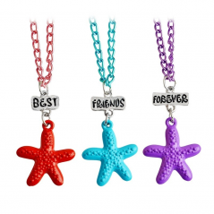 Set 3 Medalioane Lantisoare BFF BEST Friend Friends Stelute m2 bff544 Best Friends