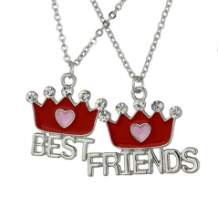Set Medalioane Lantisoare BFF Best Friend Friends Coroana bff547 Best Friends