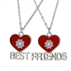 Set Medalioane Lantisoare BFF Best Friend Friends Inimi bff548 Best Friends