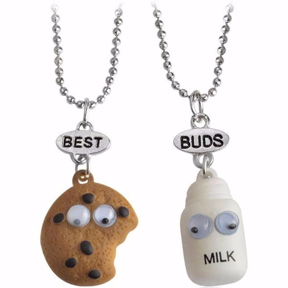 Set 2 Lantisoare Cu Pandantive Best Friends BFF Milk / Biscuit , bff552 bff552 Best Friends Medalioane BFF
