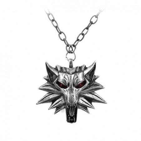 Pandantiv Medalion Lantisor The Witcher 3 Wolf Red Eye 677 Fan Zone