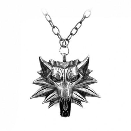 Pandantiv Medalion Lantisor The Witcher 3 Wolf Black Eye 678 Fan Zone
