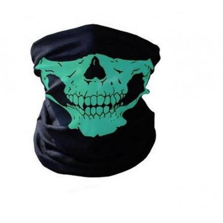 Cagula Masca Craniu Schelet Cap De Mort Verde Cagula01 Masti si Costume