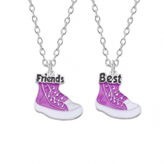 Set Lantisoare Medalioane Coliere 2 x Tenisi Best Friends Bff bff00047 Best Friends