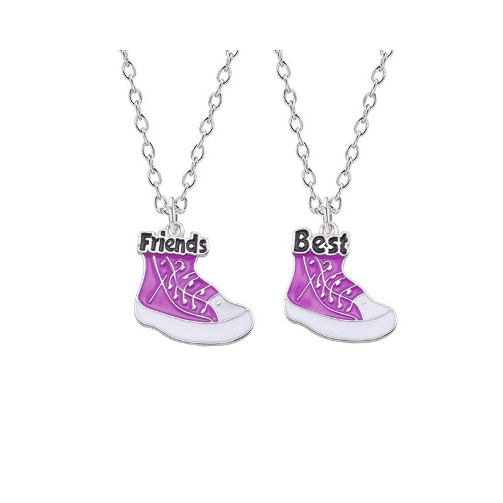 Set 2 Lantisoare Cu Pandantiv Tenisi Best Friends Bff bff00047 Best Friends Medalioane BFF