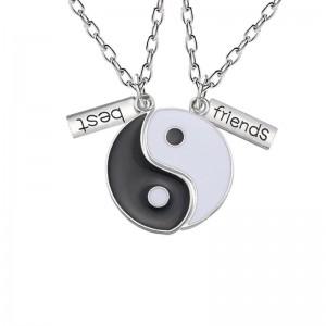 Pandantiv Medalion Lantisor BFF BEST Friend FRIENDS Ying Yang med053 Best Friends