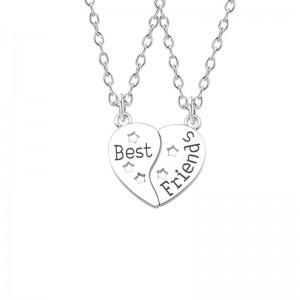 Set Lantisoare Medalioane Coliere 2 x Inima cu stelute Best Friends Bff bff00058 Best Friends