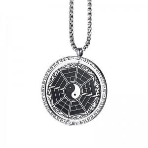 Pandantiv Medalion Lantisor Yin Yang Zodiac + Lant inox zuminox1 Medalioane Inox