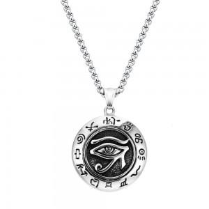 Pandantiv Medalion Lantisor Colier Amuleta Ochiul Lui Ra - Inox + Lant zuminox6 Medalioane Inox