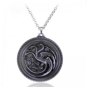 Pandantiv Medalion Lantisor Targaryen Game Of Thrones Dragon Daenerys Targaryen zum241 Medalioane