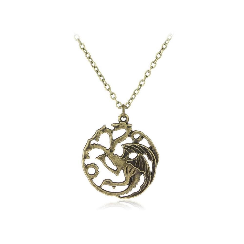 Lantisor Cu Pandantiv Game Of Thrones Targaryen med239 Game of Thrones Diverse Medalioane