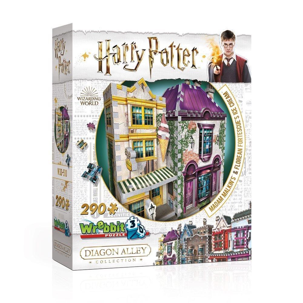 Puzzle 3D Harry Potter Madam Malkin's & Florean Fortescue's Ice Cream 290 Piese WP-W3D-0510 Harry potter Puzzle