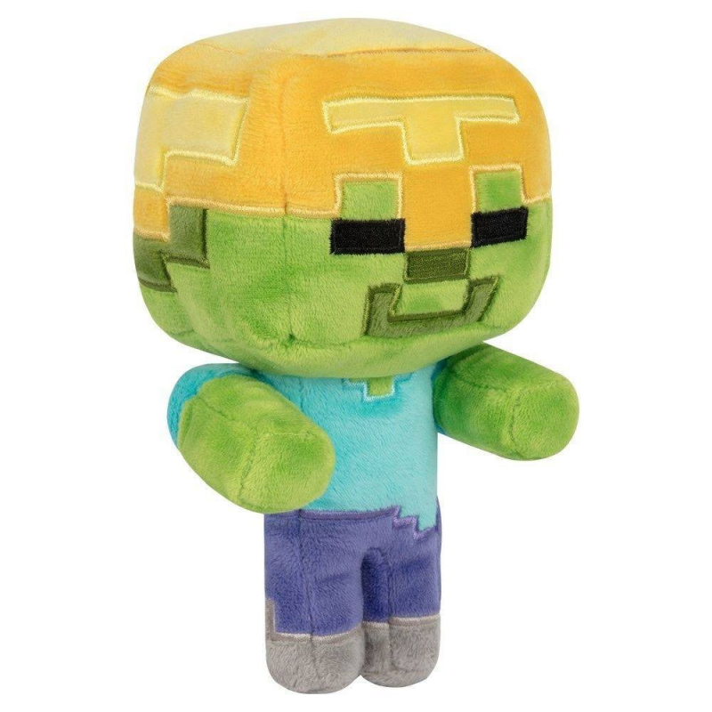 Jucarie de plus Minecraft Gold Helmet Zombie 18 cm - Original Jinx JNX75299 Jucarii de plus