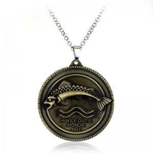 Lantisor Cu Pandantiv Game Of Thrones Family Duty Honor Tully m1 zum233 Game of Thrones Diverse Medalioane