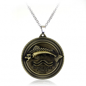 Medalion Lantisor Colier Game Of Thrones Family Duty Honor Tully, zum233 Medalioane