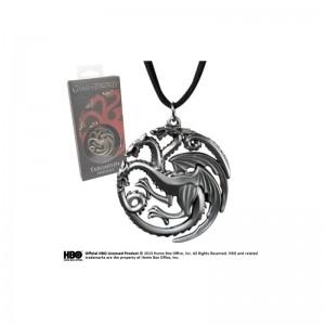 Lantisor Cu Pandantiv Game of Thrones - Targaryen House NNXT0088 Game of Thrones Diverse Medalioane