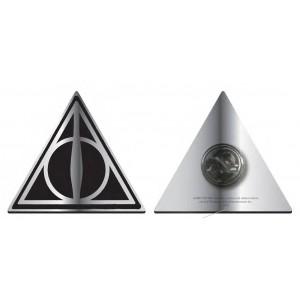 Insigna metalica Harry Potter Deathly Hallows , Neagra HMB-PBADHP09