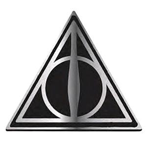 Insigna metalica Harry Potter Deathly Hallows , Neagra HMB-PBADHP09 Insigne