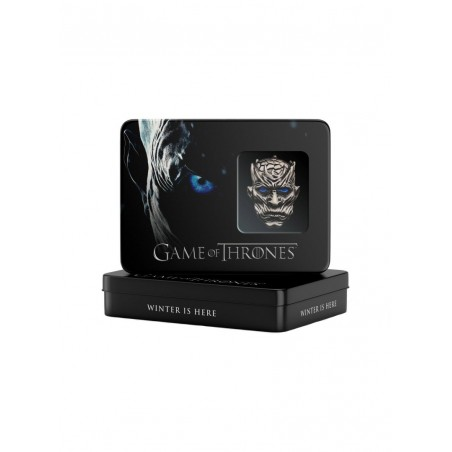 Set Brosa Game Of Thrones Night King + Placuta Metalica Night King + Cutie metalica DTR-GAGGOT13 Brose