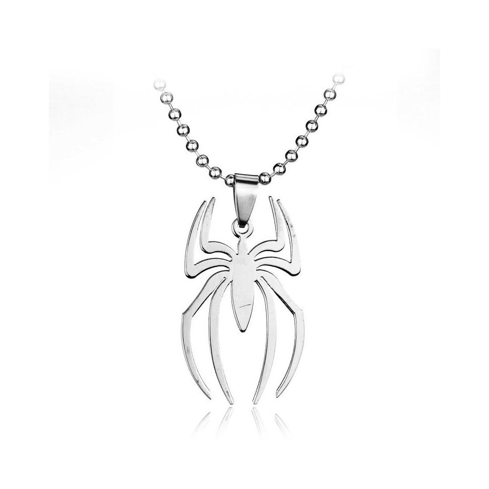 Lantisor Cu Pandantiv Spiderman Inox med232 Spiderman Diverse Medalioane