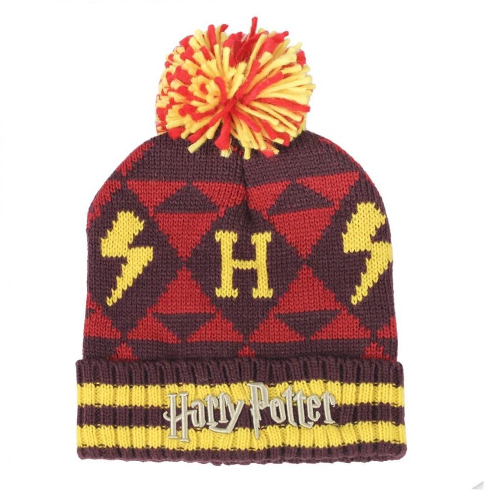 Caciula Cu Mot Harry Potter Hogwarts ,Marime Universala, Multicolor 2200003234 Harry potter Caciuli