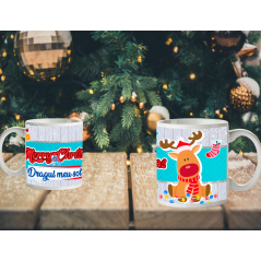 Cana Merry Christmas v2 , 300ml Multicolor mug35 Zumzeria Cani