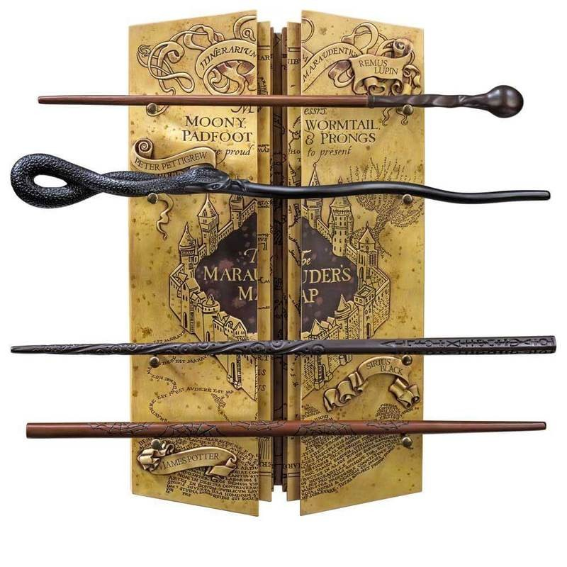 Set 4 baghete Harry Potter + Suport baghete Marauder's Map NN7905 Harry Potter Baghete Harry Potter