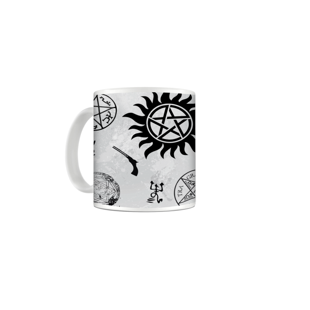 Cana Supernatural - Pentagrama , 330ml mug47 Supernatural Cani