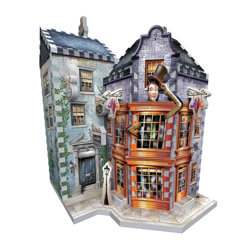 Puzzle 3D Harry Potter - Weasley's Wizard Wheezes & Daily Prophet , 285 piese - Original